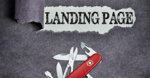 Die Landing Page als multifunktionales Schweizer Online-Marketing-Taschenmesser
