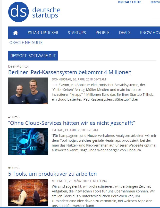 Recherche duetsche startups
