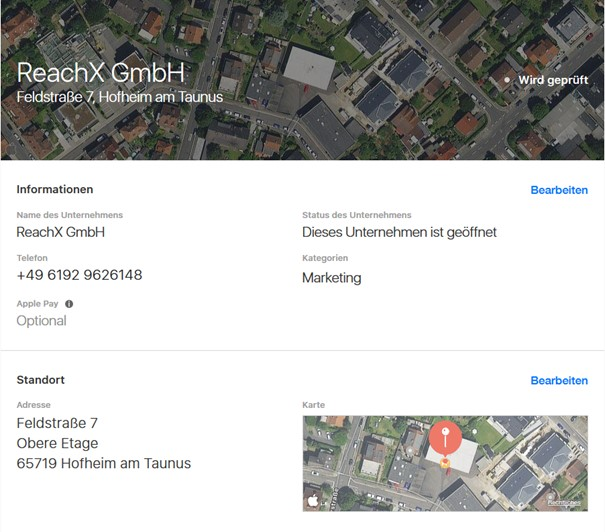 Apple Maps local seo