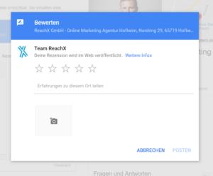 Bewertungsseite Reachx Google Bewertungen
