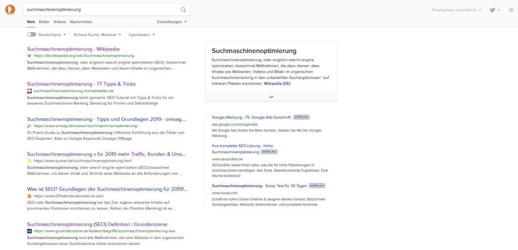 duckduckgo als sichere alternative zu google