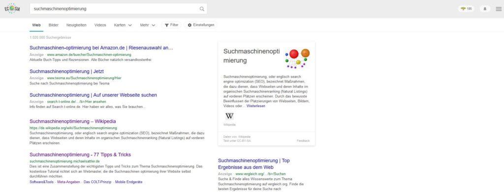 ecosia die grüne alternative zu google