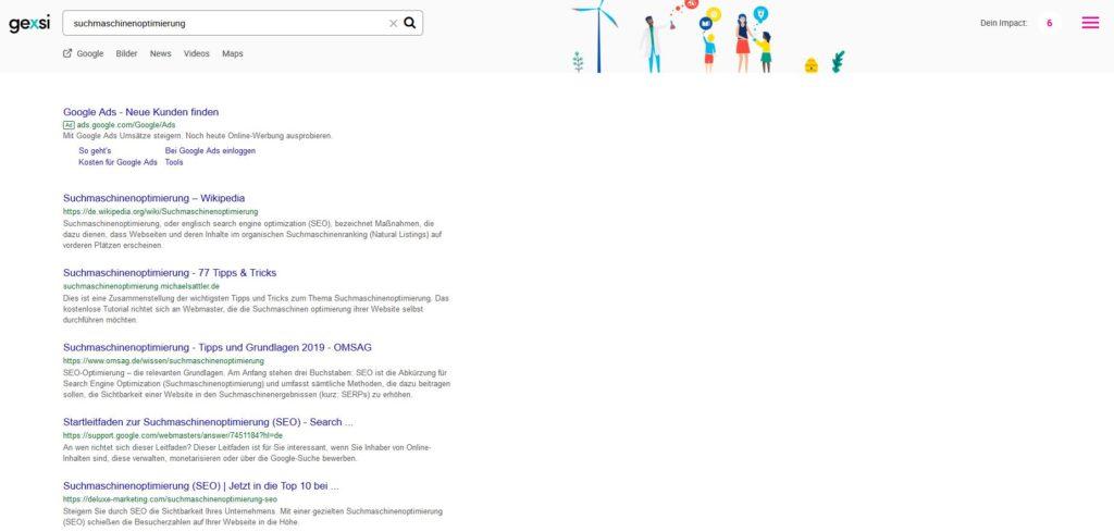 gexsi die soziale alternative zu google