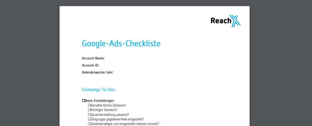 Vorschau Google-Ads-Checkliste