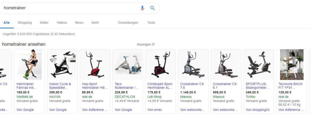 Suchergebnisse für hometrainer in Google Shopping