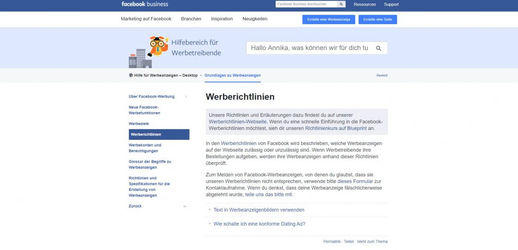 reach x.de blog 8 gründe warum facebook kampagnen keine früchte tragen fb werberichtlinien 1024x495