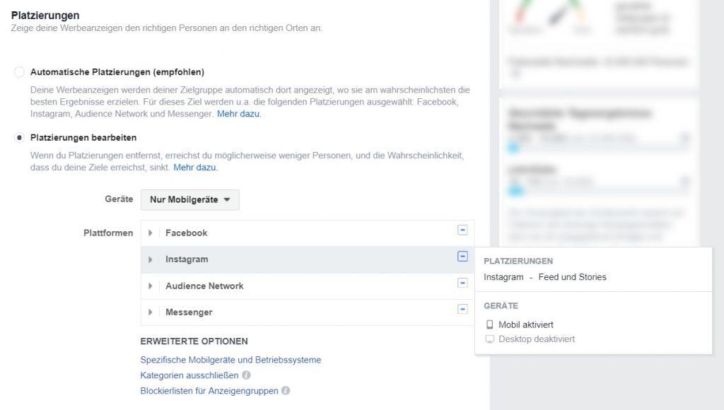 reach x.de blog B2B facebook ads für anfänger platzierung 1024x580