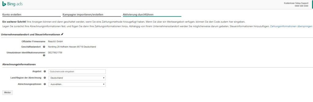 Wie Google bietet natürlich auch Bing Gutschein-Codes für Neustarter an.