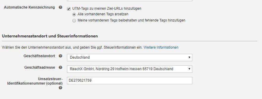 Automatische Tag-Kennzeichnung in Bing Ads
