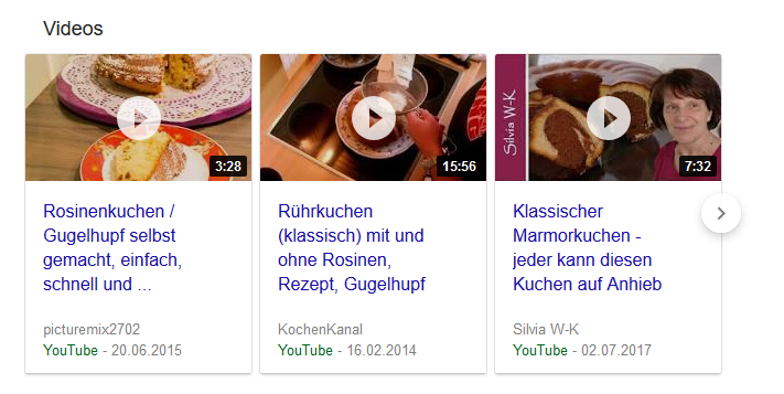 strukturierte Daten Screenshot Featured Snippets