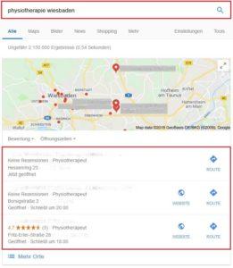 Google Ergebnisse für Physiotherapie Wiesbaden